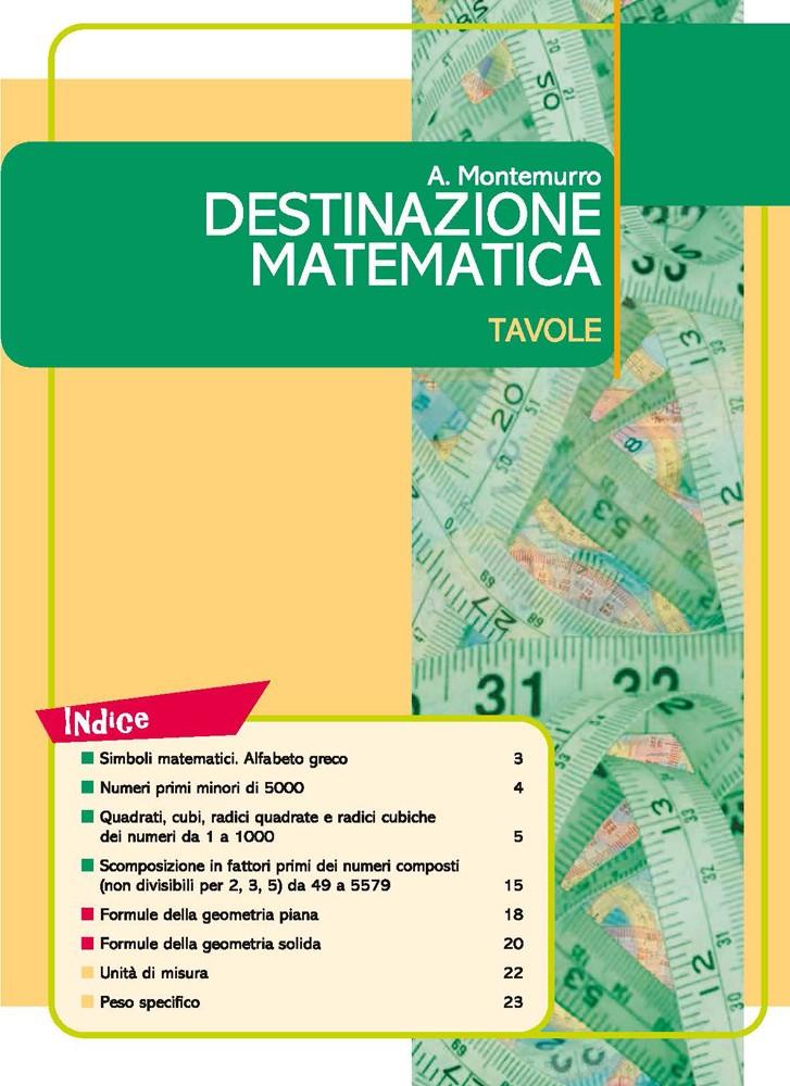 Destinazione matematica Tavole